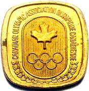 Token - Canadian Olympic Association (Handball) – reverse