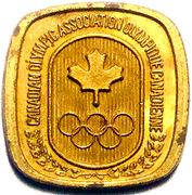 Token - Canadian Olympic Association (Shooting) – reverse