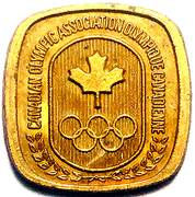 Token - Canadian Olympic Association (Volleyball) – reverse