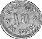 10 Cents - A. B. Ryder Mercantile Gross (Kansas) – reverse