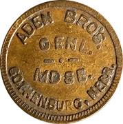 10 Cents - Aden Bros. Genl. Mdse. – obverse