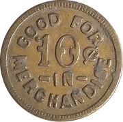 10 Cents - Aden Bros. Genl. Mdse. – reverse