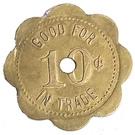 10 Cents - D. T. Owens – reverse