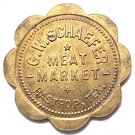 10 Cents - G.W. Schaefer (Bastrop, Texas) – obverse