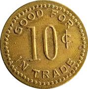 10 Cents - Raymond Recreation (Raymond, Kansas) – reverse