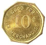 10 Cent - Bloom & Greenman (Turon, Kansas) – reverse