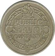 1 Fare - Public  Service  Company  Of  New Hampshire (Manchester, NH) – obverse