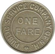 1 Fare - Public  Service  Company  Of  New Hampshire (Manchester, NH) – reverse