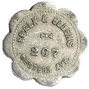 5 Cents - Foalk & Ellens – obverse