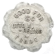 5 Cents - Otto A. Heling – reverse