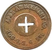 5 Cents  - Apex Amusement Co. – obverse