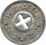 5 Cents - H. Shaefer – obverse