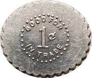 1 Cent - Curry and Romine – reverse