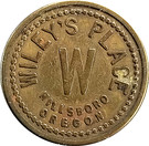 5 Cents - Wiley's Place (Hillsboro, Oregon) – obverse