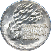 Medallion - Luzern Cantonal Shooting Festival 1970 – reverse