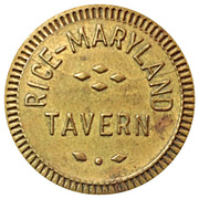 5 Cents - Rice Maryland Tavern – obverse