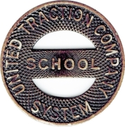 1 Fare - United Traction Company  School  System – obverse