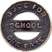 1 Fare - United Traction Company  School  System – reverse