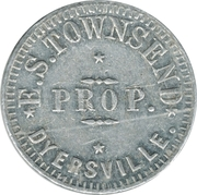 10 Cents - E. S. Townsend (Dyersville) – obverse