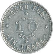 10 Cents - E. S. Townsend (Dyersville) – reverse