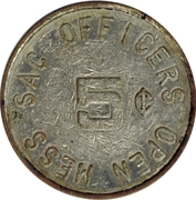 5 Cents - Sac Officers Open Mess – obverse