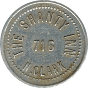 5 Cents- The Shanty Inn (Chicago) – obverse