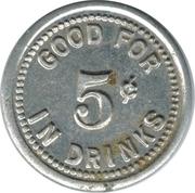 5 Cents- The Shanty Inn (Chicago) – reverse
