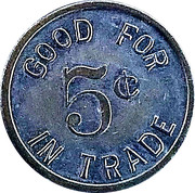5 Cents - E.C. Selgelid – reverse