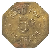 5 Cents - Huff's – reverse
