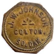 5 Cents - J. W. Johnson (Colton, South Dakota) – obverse