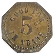 5 Cents - J. W. Johnson (Colton, South Dakota) – reverse