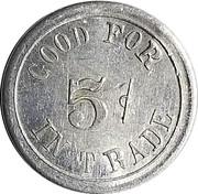 5 Cents - Slayton Mercantile Company (Lavina, Montana) – reverse