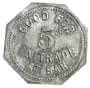 5 Cents - Roosevelt Dem. Club – reverse