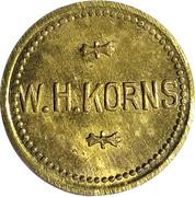 5 Cents - W. H. Korns – obverse