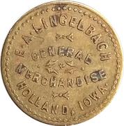 5 Cents - E. A. Lingelbach (Holland, Iowa) – obverse