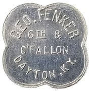 5 Cents - Geo. Fenker (Dayton, Kentucky) – obverse