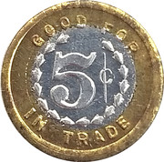 5 Cents - Brown Palace Hotel – reverse