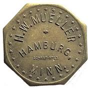 5 Cents - H.W. Mueller (Hamburg, Minnesota) – obverse