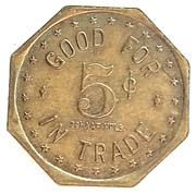 5 Cents - H.W. Mueller (Hamburg, Minnesota) – reverse