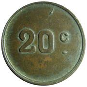 20 Centimes – reverse