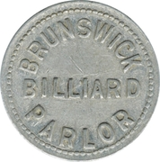 5 Cents - Brunswick Billiard Parlor – obverse