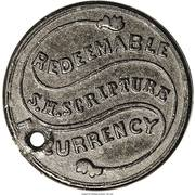 4 Cents - Civil War Merchant Token - S.H. Scripture Currency (New York) – obverse