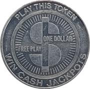 1 Dollar - Red Garter Casino (Las Vegas, Nevada) – reverse