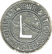 1 Fare - Louisiana Pwr. & Lt. Co.  Algiers (Algiers, LA) – obverse