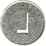 1 Fare - Louisiana Pwr. & Lt. Co.  Algiers (Algiers, LA) – reverse