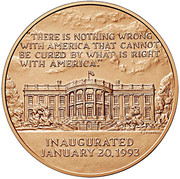 William J. Clinton (First Term) Bronze Medal – reverse