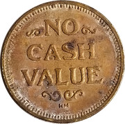 Token - No Cash Value (Rays or Lines; 25 mm) – obverse