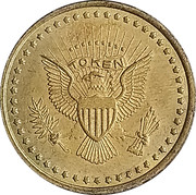Token - No Cash Value (Eagle looking left) – obverse