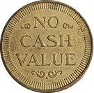 Token - No Cash Value (Eagle looking left) – reverse