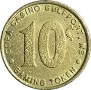10 Cent Gaming Token - Copa Casino (Gulfport, Mississippi) – reverse
